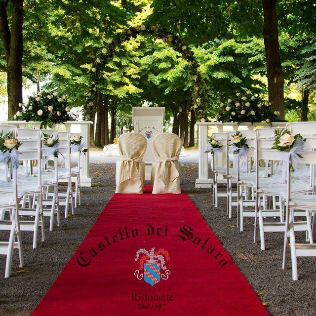 La cerimonia civile con valore legale al Castello dei Solaro
