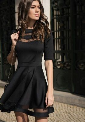 Goedkope Vrouwen Zomer Jurken 2016 Zomer Dames Europese Stijl In Hoogte Vintage Mesh Knie Sexy Zwarte Jurken, koop Kwaliteit jurken rechtstreeks van Leveranciers van China: