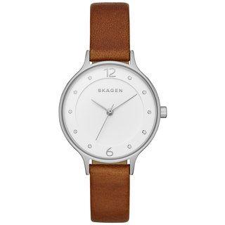 Skagen Women's SKW6273 'Hagen' Brown Leather Watch | Overstock.com Shopping - The Best Deals on Skagen Women's Watches