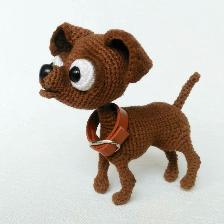 Excited to share the latest addition to my #etsy shop: Amigurumi dog Crochet Chihuahua plushie toy Stuffed chihuahua dog Crochet toy chihuahua New year gift for dog lover Gift Christmas gift 2018 #amigurumidog #dogcrochet #crochetchihuahua #chihuahuaplushtoy