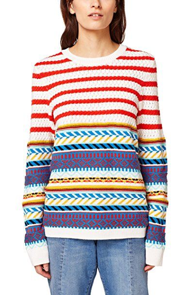 edc by ESPRIT Damen Pullover 038CC1I001, Weiß (Off White 110), X-Small -  Pullover pulli pullis polover pullunder pullis pull…   Pullover Trends  Frauen ... 5e4d0a0f24