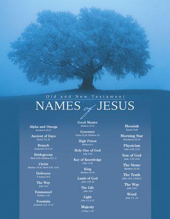 Names of God  Names of Jesus Poster Sets    Broadman Church Supplies