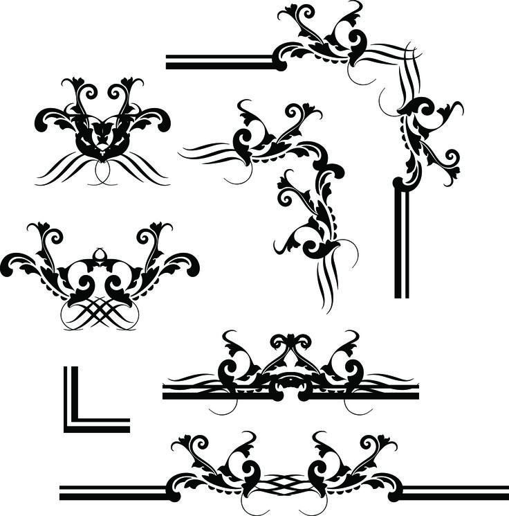 Vector european border pattern vector decorative design elements