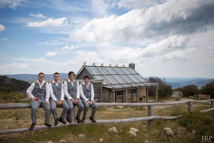 The groom and groomsmen @ craigs hut