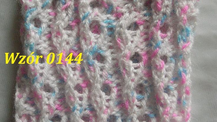 Wzór 0144*Robótki na drutach*Wzór Ściągacz*Wzór ażurowy Skarprtki*Rękawi...