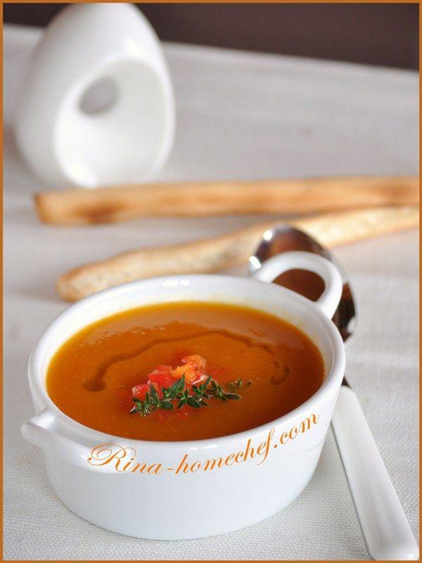 Крем-суп из тыквы и сладкого перца