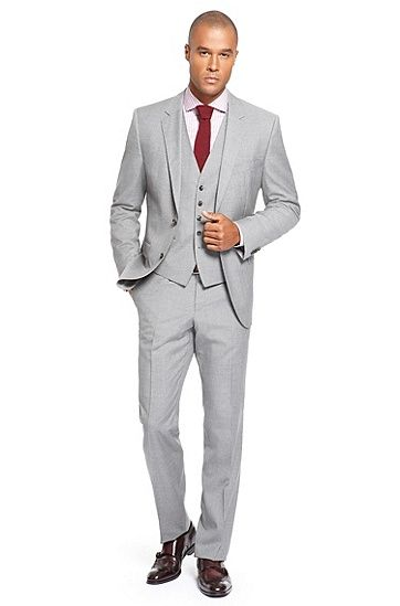 The James/Sharp' | Regular Fit, Super 100 Virgin Wool 3-Piece