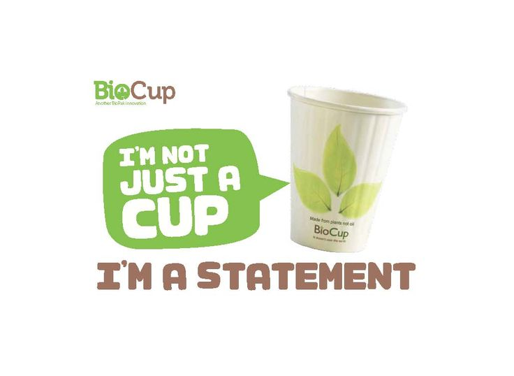 #BioPak #BioCup Are you green?