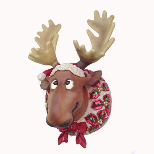 Reindeer Funny Moose Garlands Wreath