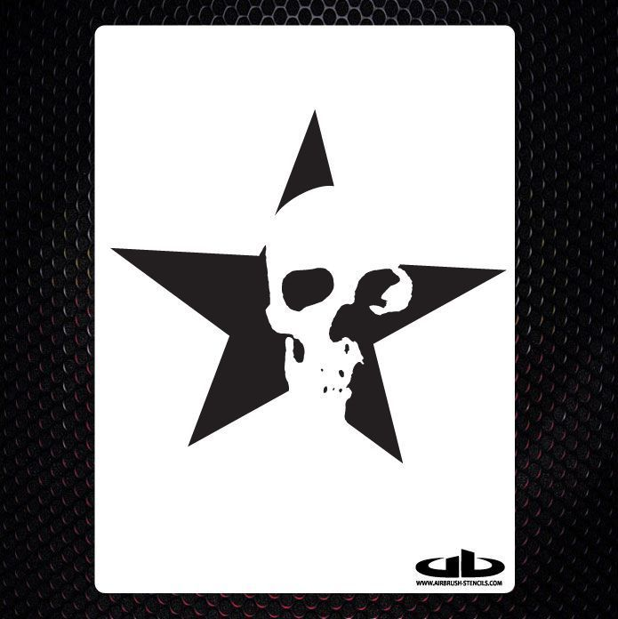 SKULL 18 airbrush stencil template motorcycle chopper paint z3 in Crafts, Art Supplies, Airbrushing | eBay