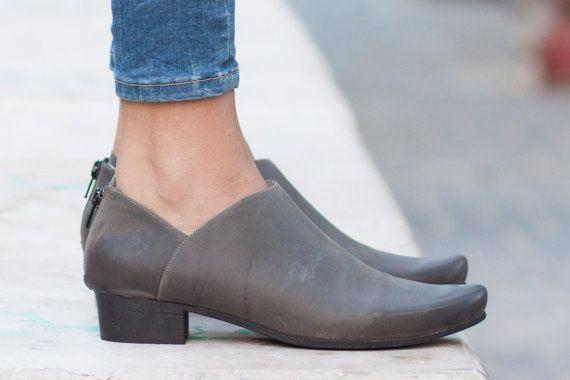 Cuero botas botines botas zapatos de invierno gratis por BangiShop