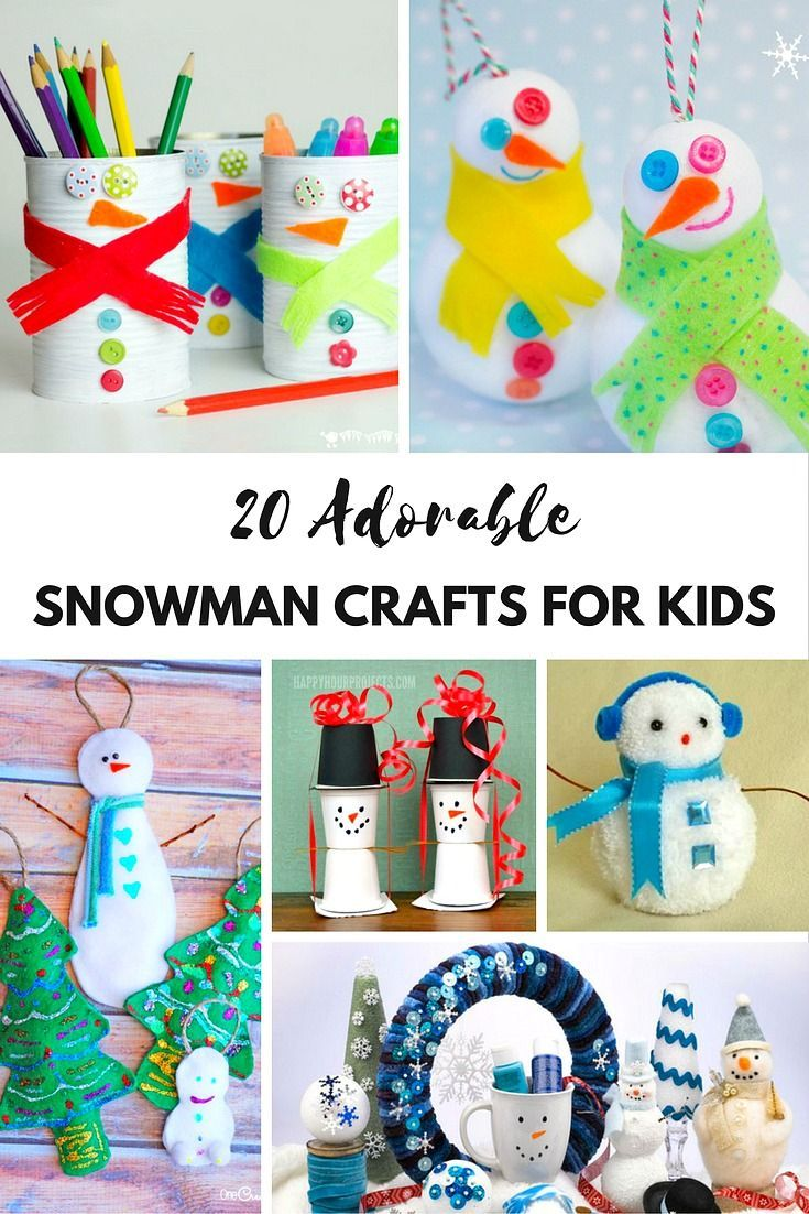 20 Adorable Snowman Crafts for Kids. From milk bottle snowmen to paint snowmen and even melting snowman candy pops to snowman mason jar luminary ornament craft, these ideas are the perfect way to spend those cold days inside with your loved ones. Easy DIY Ornements. The Flying Couponer.