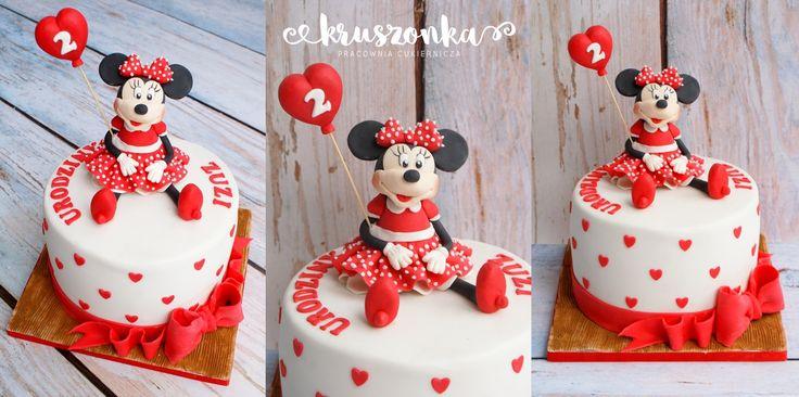 Tort z Myszką Minnie na drugie urodzinki