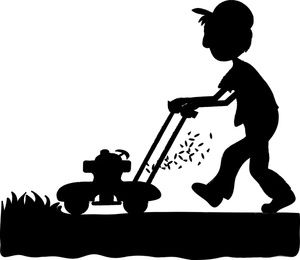Lawn mower lawn mowing silhouettes clipart - Cliparting ...