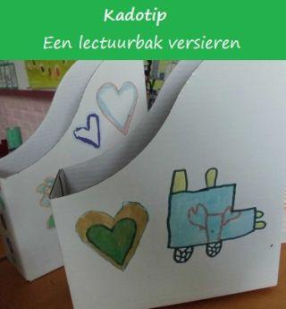 Vaderdagcadeau: lectuurbak (via klas van juf Linda)