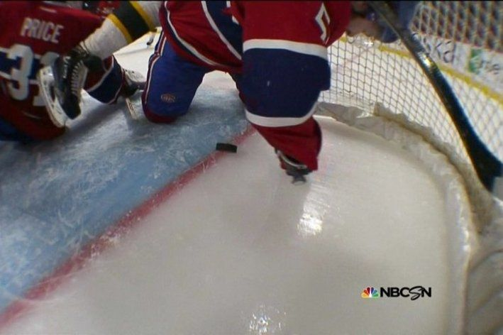 How did this Bruins shot not go in?