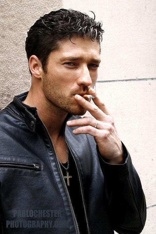 Male celebrity smoking cigarettes