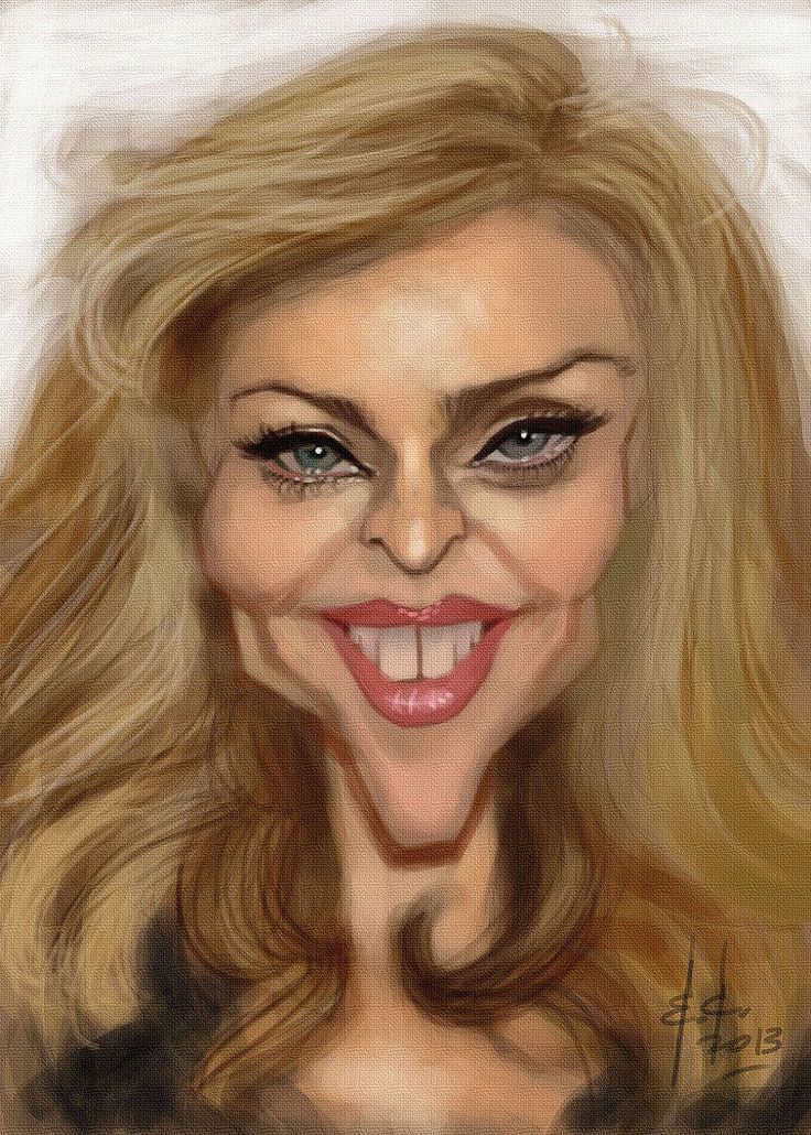Caricatura de Madonna.
