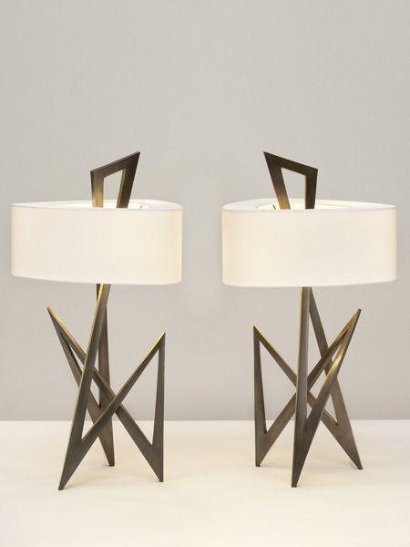 Galerie Van Der Straeten, Table Lamps.