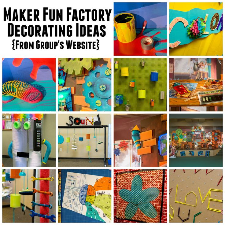 Group Publishing VBS 2017 - Maker Fun Factory - Decorating Ideas - BorrowedBlessings.net - Borrowed Blessings