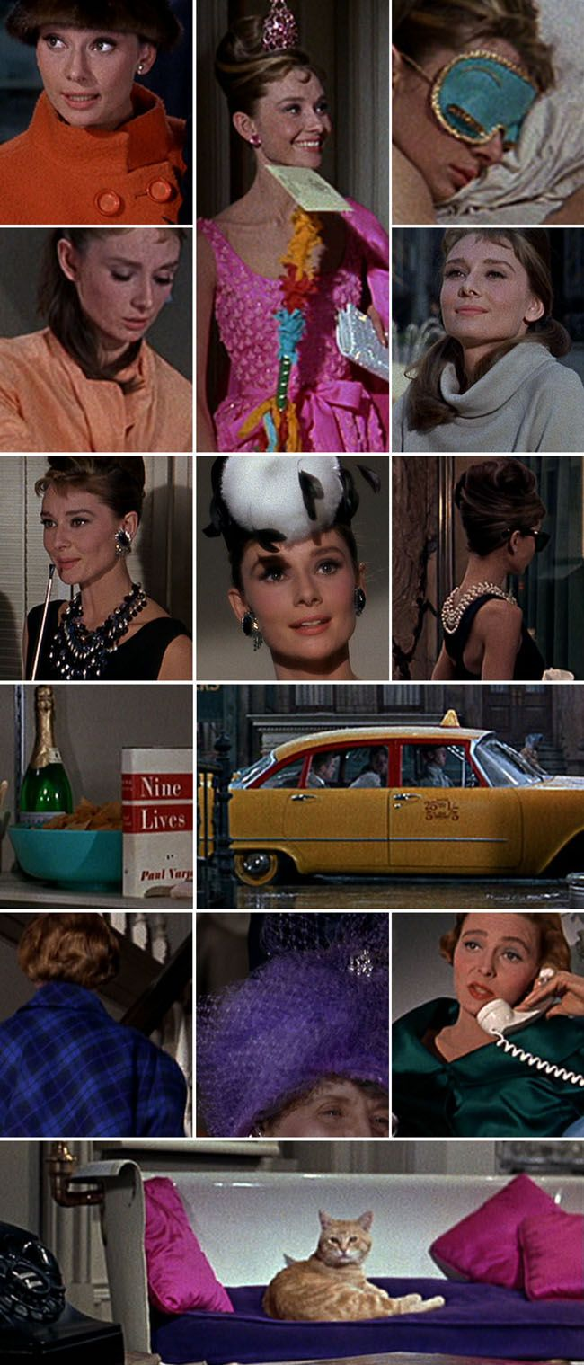 From the putty shades of apartment interiors to the gritty browns of New York streets, the pops of jewel tones and bright colours make one dazzling palette. I think the big party scene is my favourite part as bold shades and details dance with the neutral setting. After screen-capping like a mad-woman, I can confirm there is no shortage of inspiration in the Breakfast at Tiffany's colour palette… | via Plenty of Colour    152      37