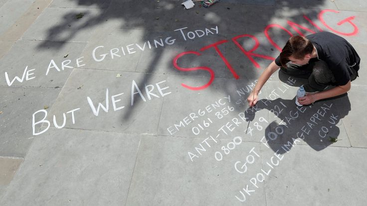 CBC News      A man writes a message on the pavement in central Manchester. (Darren Staples/Reuters)  For Canadian parents grappling with how to talk to their children about the attack at U.S. pop star Ariana Grande's concert in the U.K., the first step is reassurance, psychologists... - #Attack, #Children, #Concert, #Health, #Manchester, #Talk