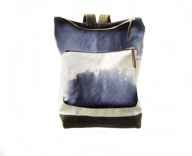 City Backpack, Hand-Dyed, Custom-Waxed - Storm - product images  of