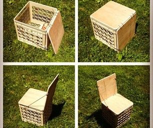 DIY Chair for camping! Storage too.  #Recycle #craft