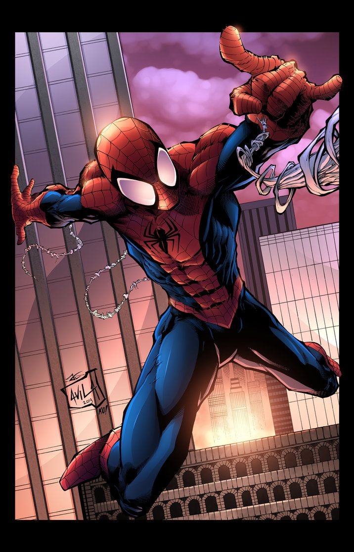 #Ultimate #Spiderman #Fan #Art. (Ultimate Spider-Man Color) By: JackLavy…