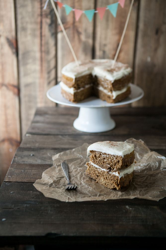 Whole Wheat Pumpkin Cake with Cream Cheese Frosting