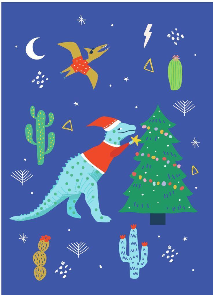 Advocate Art London Marbella New York Christmas Illustration Christmas Prints Retro Christmas