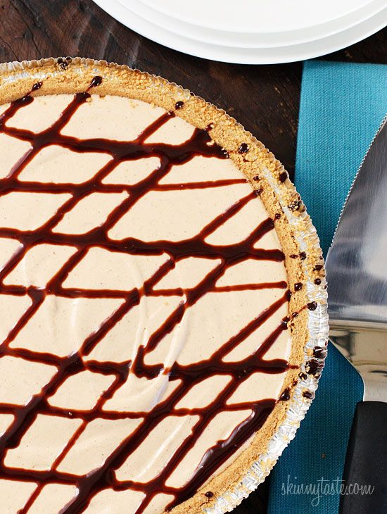 Skinny No-Bake Peanut Butter Pie. Delicious and good for you. <3: Peanuts, Skinny No Bake, Food, Butter Pie, Peanut Butter