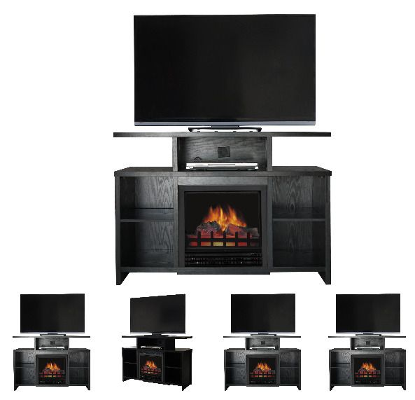 42 Inch TV Stand With Fireplace Media Console Electric Entertainment Center SALE #DcorFlame #Modern