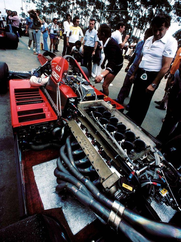 Niki Lauda (AUT) (Parmalat Racing Team), Brabham BT48 - Alfa Romeo V12 - 2,991 cc (182.5 cu in), 60º V12, NA, mid-engine, longitudinally mounted.  1979 Brazilian Grand Prix