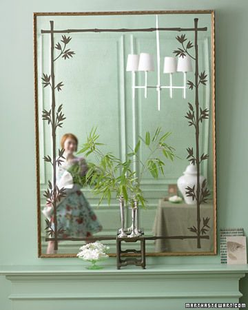 I have a very, very large mirror that is just taking up space in storage upstairs that I could refurb into something like this