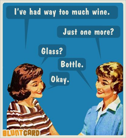 This is what happens on our wine tours.  @Kelly Teske Goldsworthy Porter Peoples @Elena Navarro Tuzi