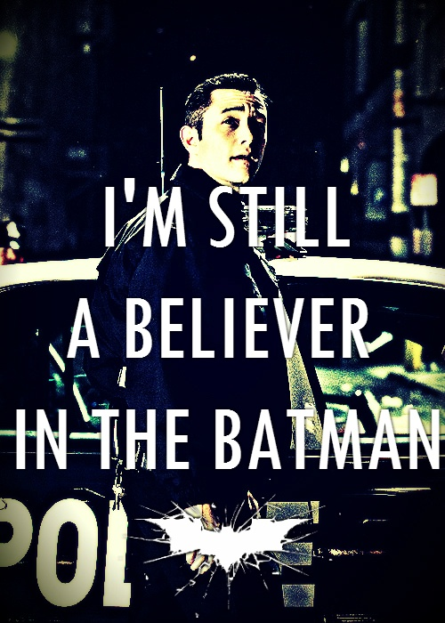 John Blake/Robin, The Dark Knight Rises ...I'm still a believer in the Batman:D