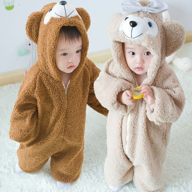 2016 NEW Duffy Bear Onesie/Pajamas/Romper For Kid Cosplay Costume Kids Gifts Baby crawling clothes