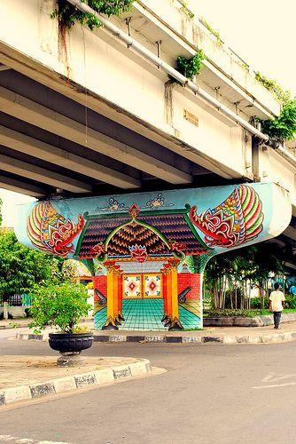 mural art. yogyakarta, indonesia.
