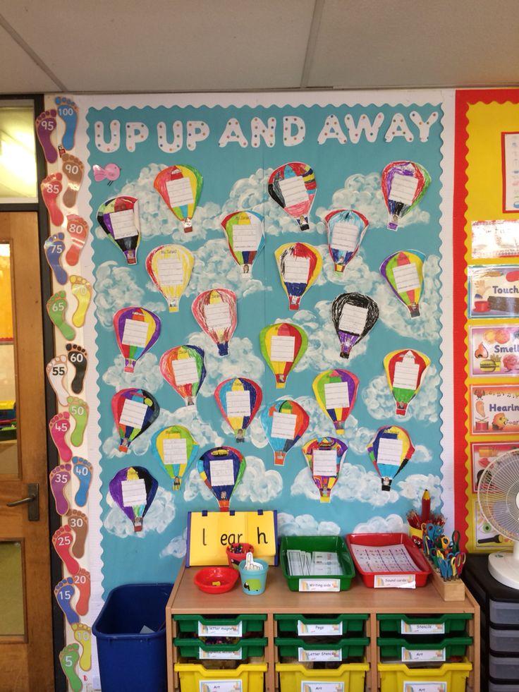 My year 1 classroom targets display school art