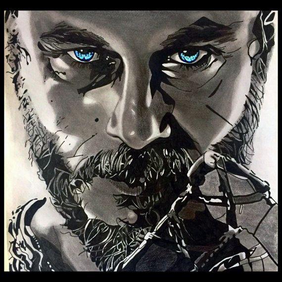 Ragnar Lothbrok  Vikings TV Series  Original Artwork