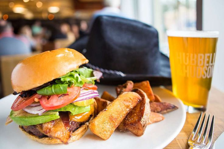 Hubbell and Hudson Kitchen Specialty burger ex.: Cowboy burgerCowboy style…