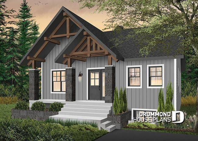 Front Base Model Small And Affordable Bungalow House Plan With Master On Main 3 Bedrooms Lar Cottage Style House Plans Modern Style House Plans House Plans