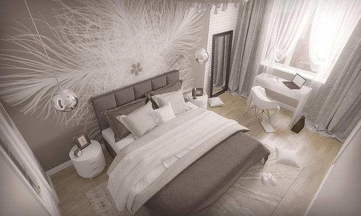 Дизайн интерьера. Екатеринбург. ЖК Менделеев.Квартира, спальня. #екатеринбург #дизайнквартиры #спальня #дизайнинтерьера #дизайнер