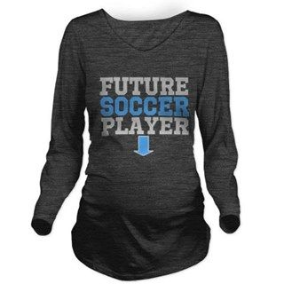 FUTURE SOCCER PLAYER Long Sleeve Maternity T-Shirt for