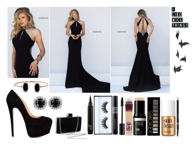 """""""Prom #2"""" by harmzilly on Polyvore featuring beauty, Sherri Hill, LULUS, Huda Beauty, Christian Dior, Maybelline, Forever 21, Benefit, Gucci and Jayson Home"""
