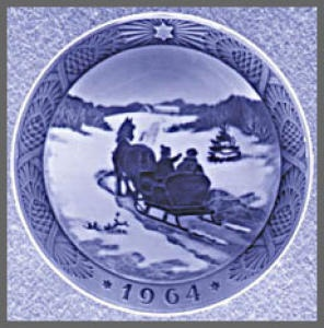 One of my Royal Copenhagen Christmas plates
