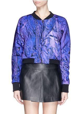 COCURATA Digital print nylon bomber jacket