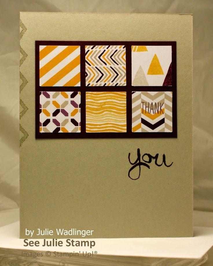 See Julie Stamp - Julie Wadlinger, Stampin' Up! Demonstrator - June Blog Hop - Work of Art