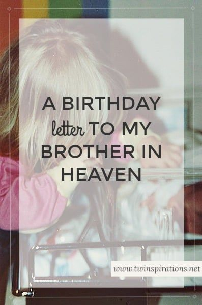 Hey bro, I wonder as I write this how much time has passed where you are compared to here on earth. Some moments it feels like an eternity has come and gone since you left us, but then other times it seems like just yesterday that I was lying on the kitchen floor in a ... Read More about  A Birthday Letter to My Brother in Heaven